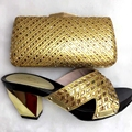 Italiano Zapatos Con Bolso A Juego Nuevo Diseño de la Llegada de Italia de Zapatos A Juego Italiano Y Juego de Bolsa de Oro Bolso A Juego Y ShoesYZ27