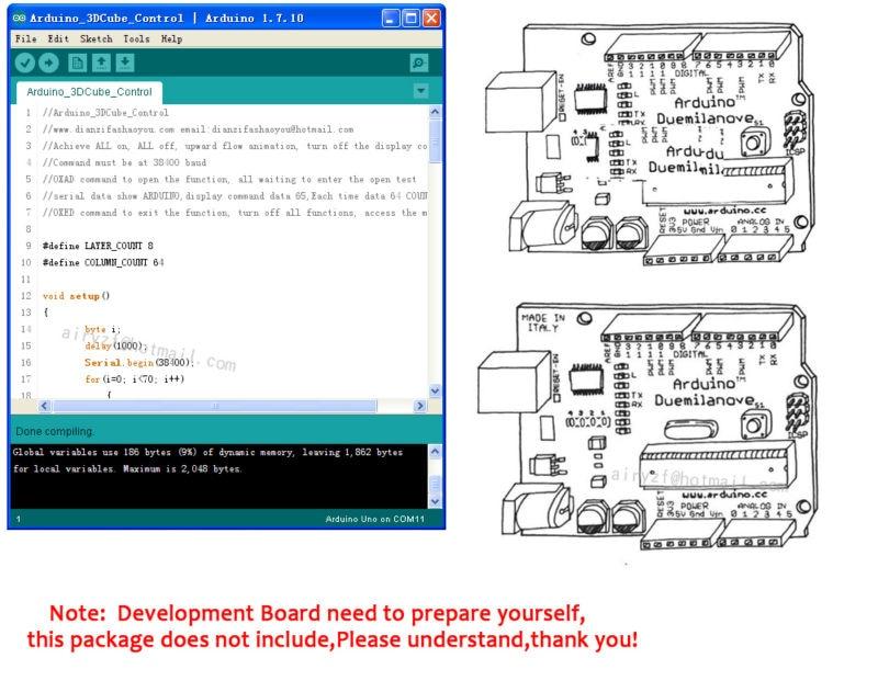 Arduino_3DCube_Control