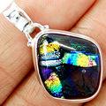 Hand make  Guarantee Dichoric Glass Pendant 100% 925 Sterling Silver,  AP0313