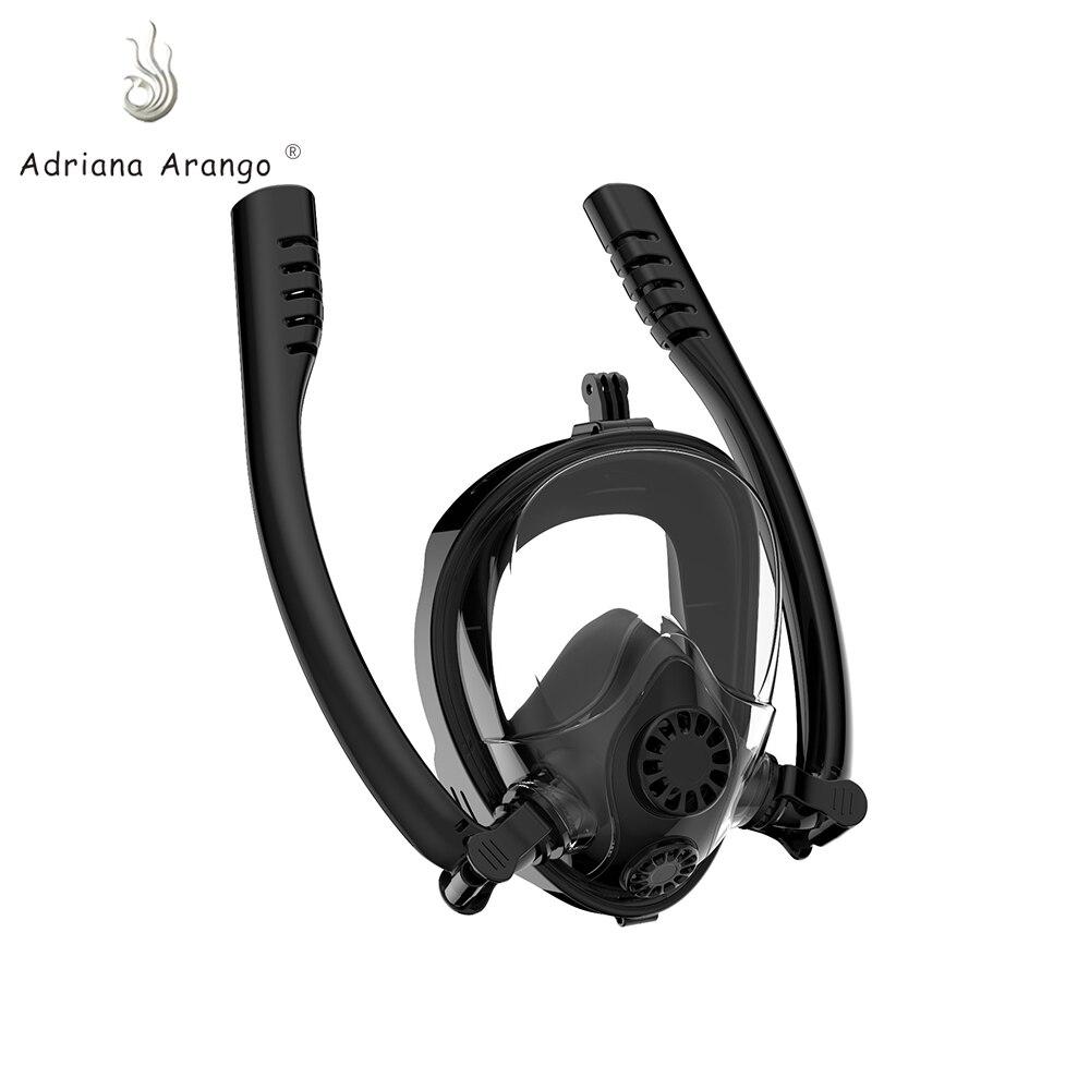 Adriana Arango 2019 double tube rotatif masque de plongée lunettes de plongée anti-buée tube respiratoire hommes et femmes adulte masque de plongée