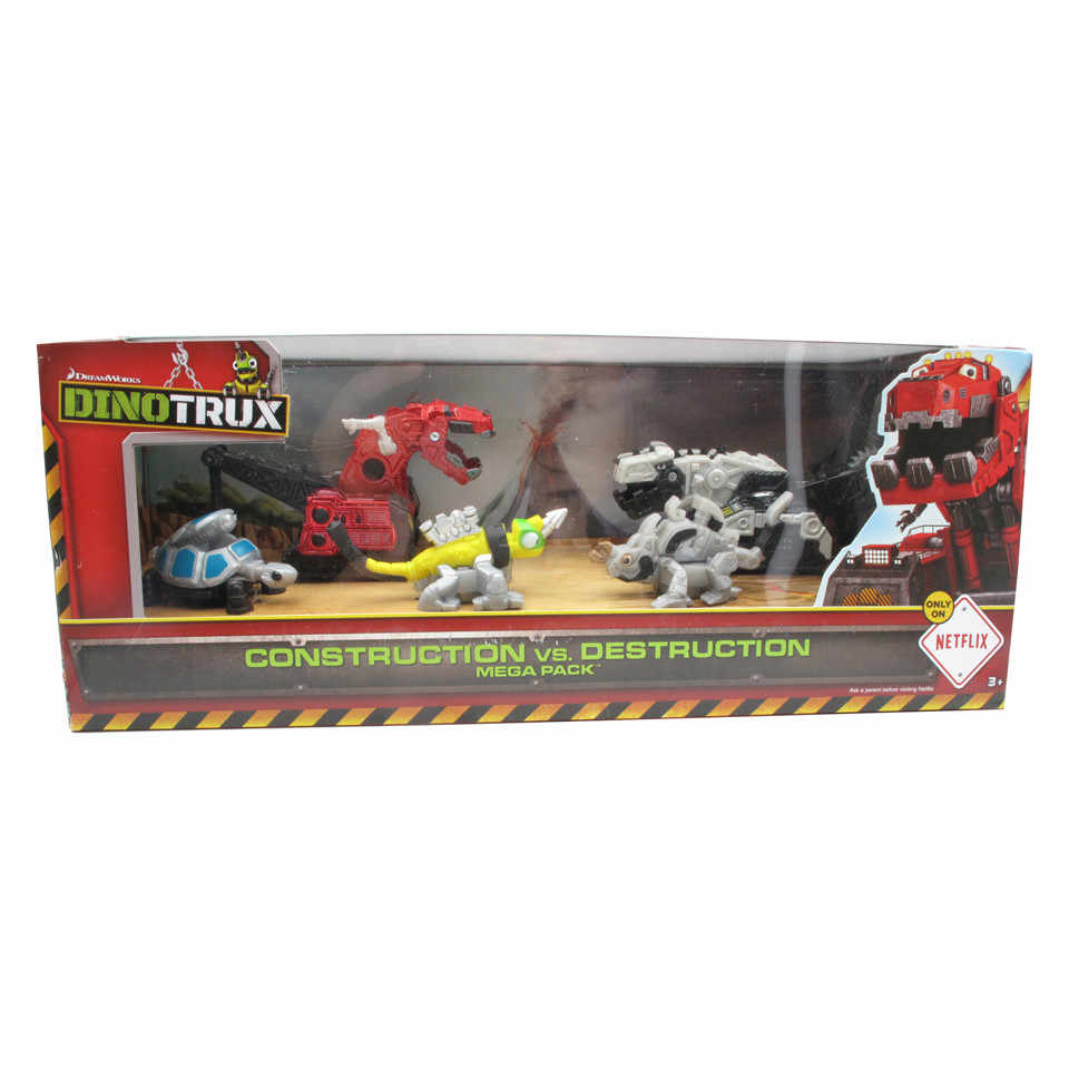 Dinotrux truck toy car Construction VS Destruction dinosaur toys dinosaur models children present Mini toys of children