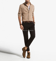 2014 New Design Slim Fit 100 Cotton Multiple Color To Choice Side Pockets With Button Fly