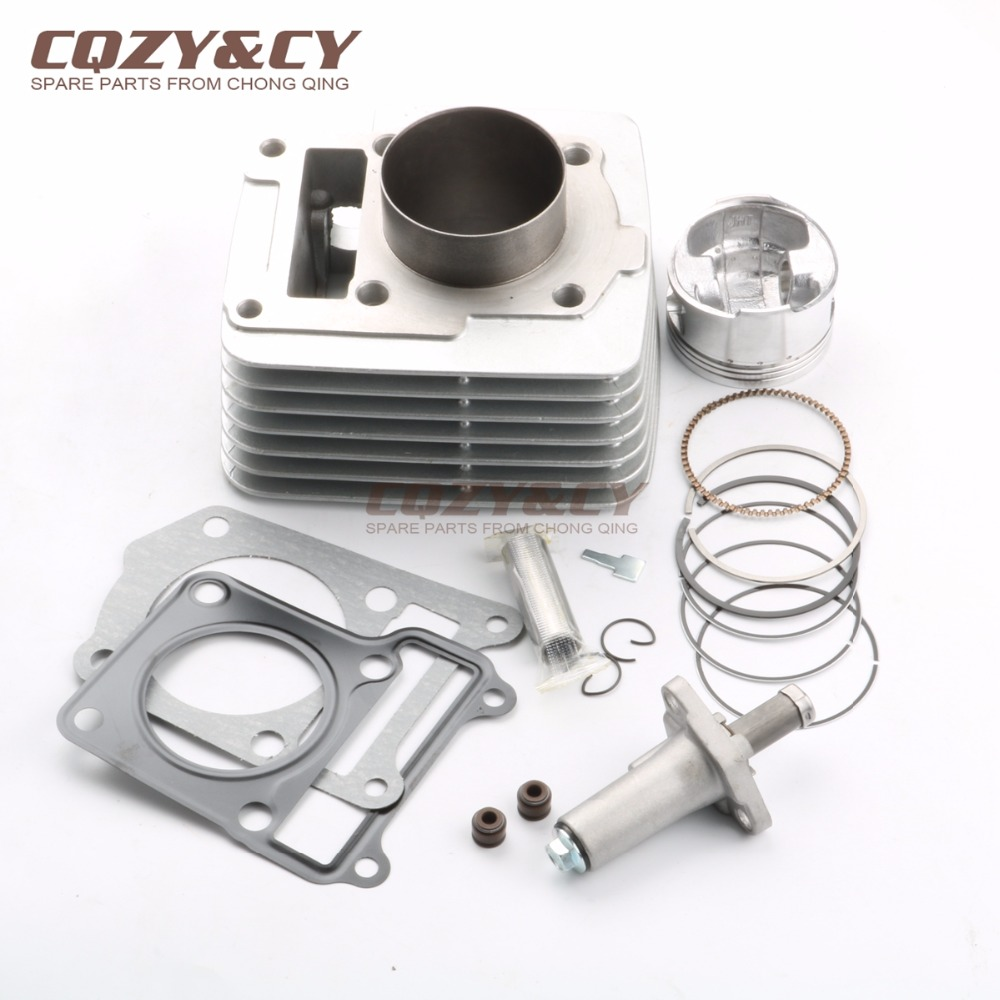 57.4MM Big Bore Cylinder Barrel & Piston Kit For Derbi Senda 125cc Upgrade To 150cc & Tensioner 4T 2004 2005-in Engine Cooling & Accessories from Automobiles & Motorcycles    1