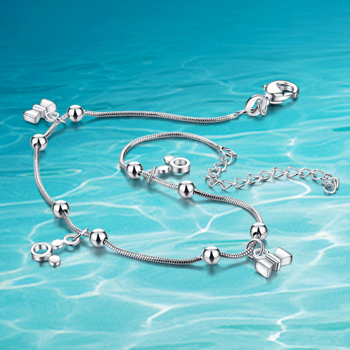 925 sterling silver jewelry;Sterling silver anklets for women;925Sterling silver; brand accessories;vintage style;