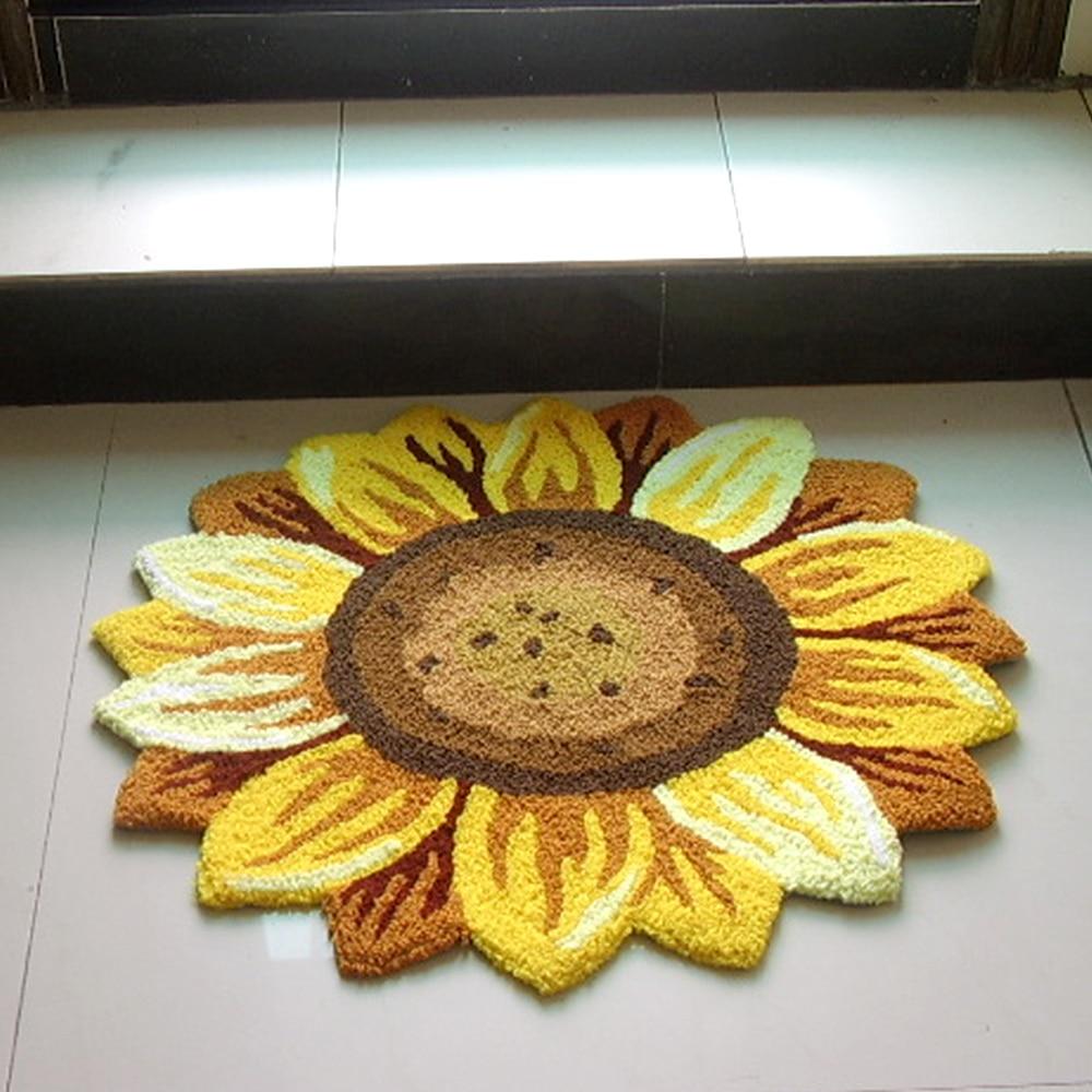 Yazi Gelbe Sonnenblume Teppich 3D Floral Handgemachte Stickerei ...