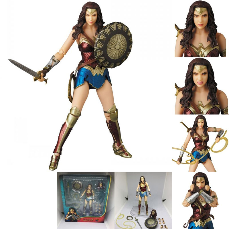 Justice League Mafex Batman Maf 056 Flash 058 Wonder Woman 048 Superman 057 Spiderman 047 Action Figure Toy Doll (6)