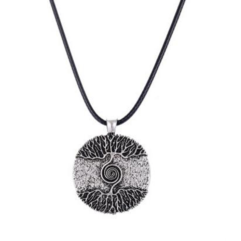 New Round So Above So Below the Tree of Life Pendant Necklace Nordic Tree Runes Amulet Talisman Jewelry XL007