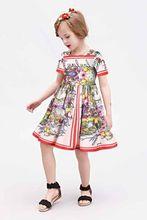 WL Moonsoon Марка 2016 Новый Цветочный Узор Платье Принцессы Костюм Девушки Дети Платья Для Девочек Одежда