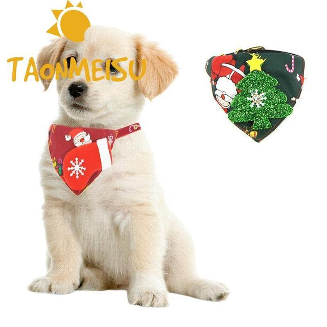 Personazlied Dog Collar Christmas Dog Theme Triangle Scarf Collar Pet Scarf Saliva Towel Puppy Cat Pet