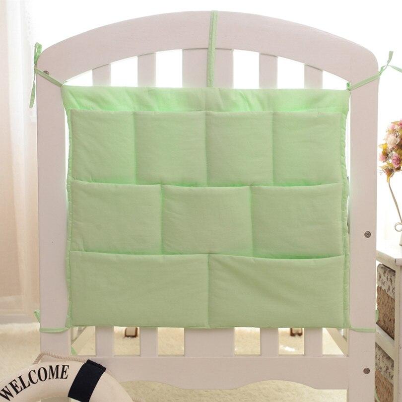 55*60 CM Baby Bed Hanging Storage Bag Cotton Bedding Sets Printing Pattern Multi Functional  Diaper  Storage Large Size Bed Bag
