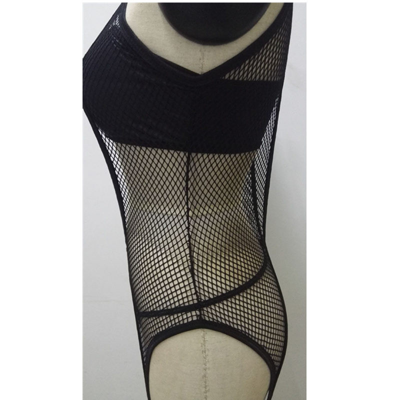 PU Leather Baby Doll Sexy Lingerie Sexy Hot Erotic Lingerie For Women Black Mesh Latex Catsuit Pole Dance Sex Costumes Underwear