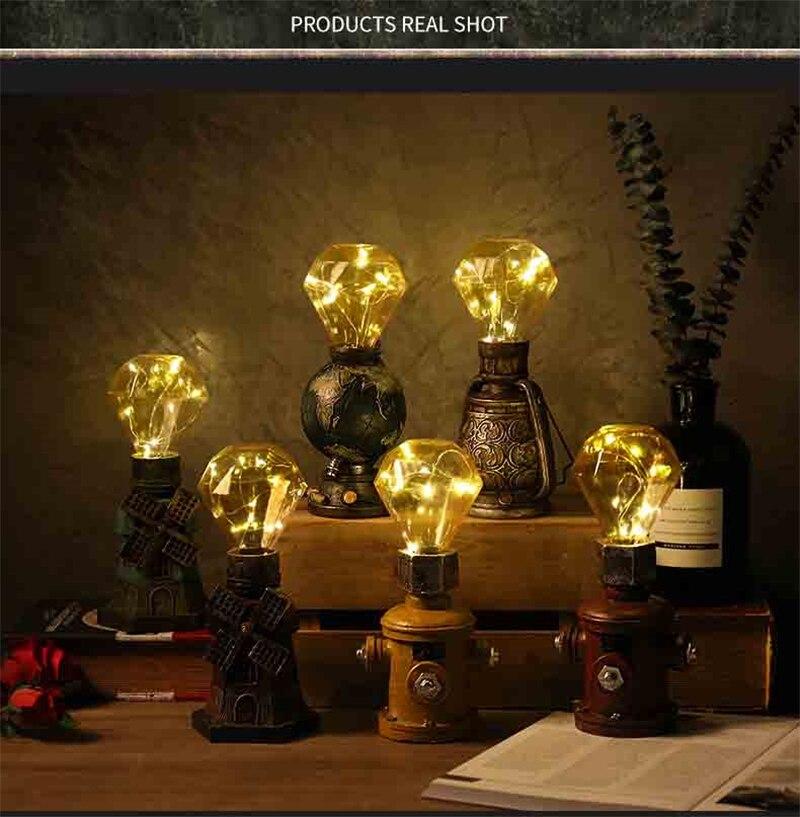 de Mesa Lâmpada Noite Quente Resina LED Nightlight Desktop