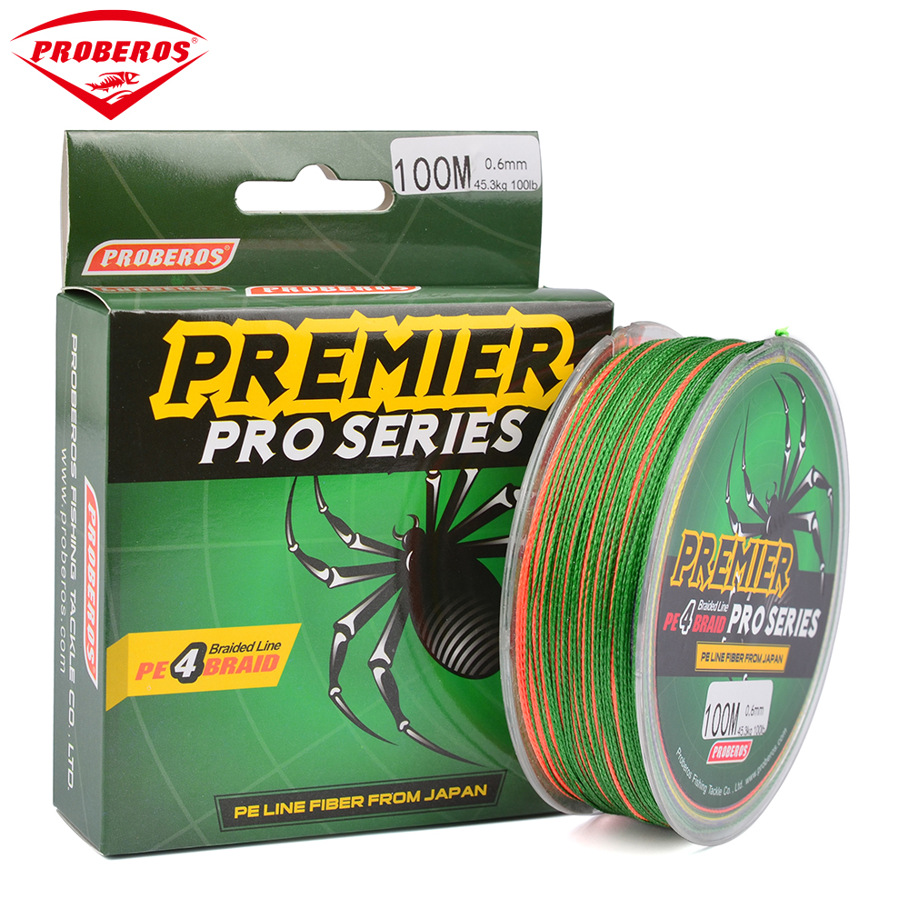 Strong 100m multifilament pe braided fishing line 4 stands for 100 lb fishing line