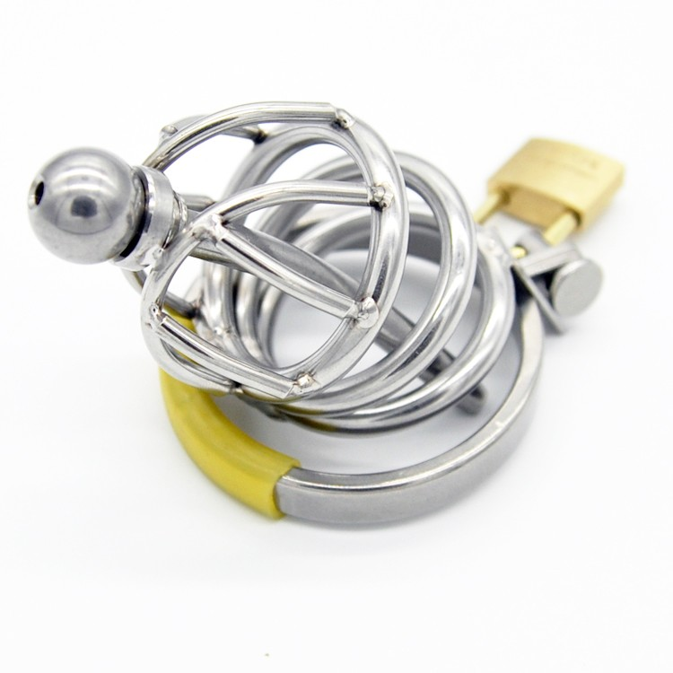 New-Stainless-Steel-Male-Chastity-Device-with-Catheter-Cock-Cage-Virginity-Lock-Penis-Ring-Penis-Lock (2)