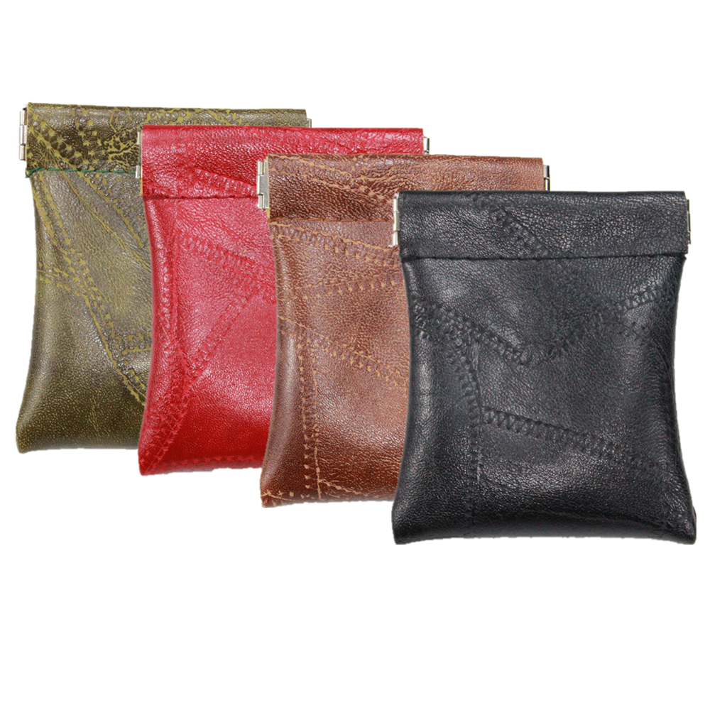 Faux Sheepskin Patchwork Leather Squeeze Wallet Coin Purse Women Men Short Small Bag Money Change Key Card Holder Kid Party Gift