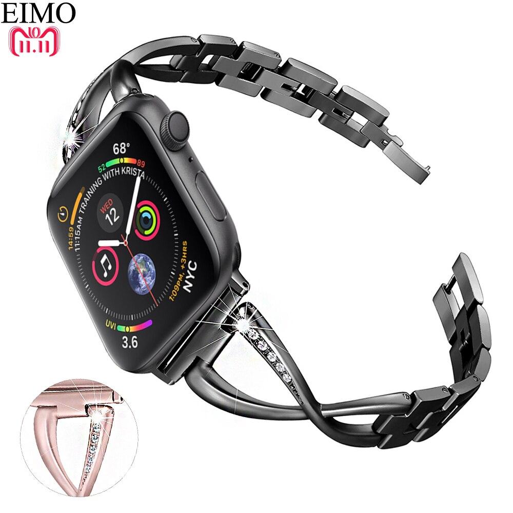 936a7641fcb EIMO Série faixa de Relógio de Aço Inoxidável Strap para Apple Iwatch 4 3 2