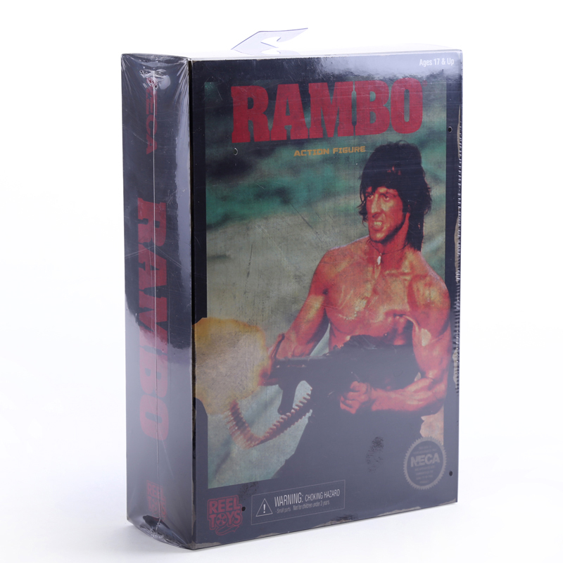NECA Rambo First Blood PVC Action Figure Collectible Model Toy neca a nightmare on elm street 2 freddy s revenge 3 dream warrior freddy krueger pvc action figure collectible model toy 50cm