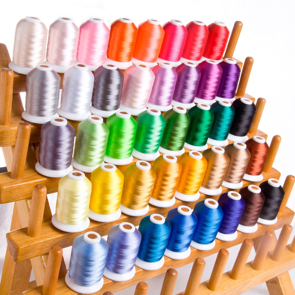 New Brand Simthread embroidery thread 120D 2 40WT polyester thread 1100Y cone 40 colors per set