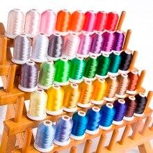 Бренд Simthread нить для вышивки 120D/2 40WT полиэфирная нить 1100Y/конус 40 цветов в наборе с бесплатной доставкой