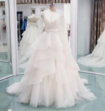 Long Sleeves Ball Gowns Wedding Dresses Pearl Beaded 2016 Vintage Style Princess Wedding Dresses Real Photos