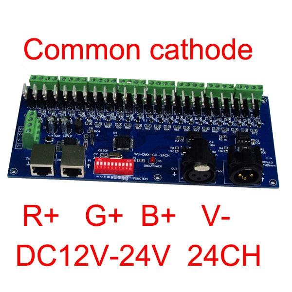 Közös anódos 24 csatornás DMX512 RGB vezérlő 8 csoport RGB - Világítási kiegészítők