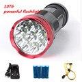 10T6 мощный фонарик 20000 люменов SKYRAY King 10x CREE XM-L T6 светодиодные фонари для кемпинга охоты рыбалки