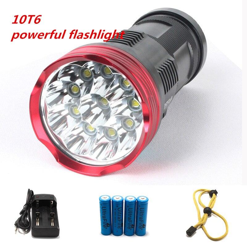 10T6 lampe de poche puissante 20000 lumens SKYRAY King 10x CREE XM-L T6 torche LED lampes de poche LED pour camping chasse pêche