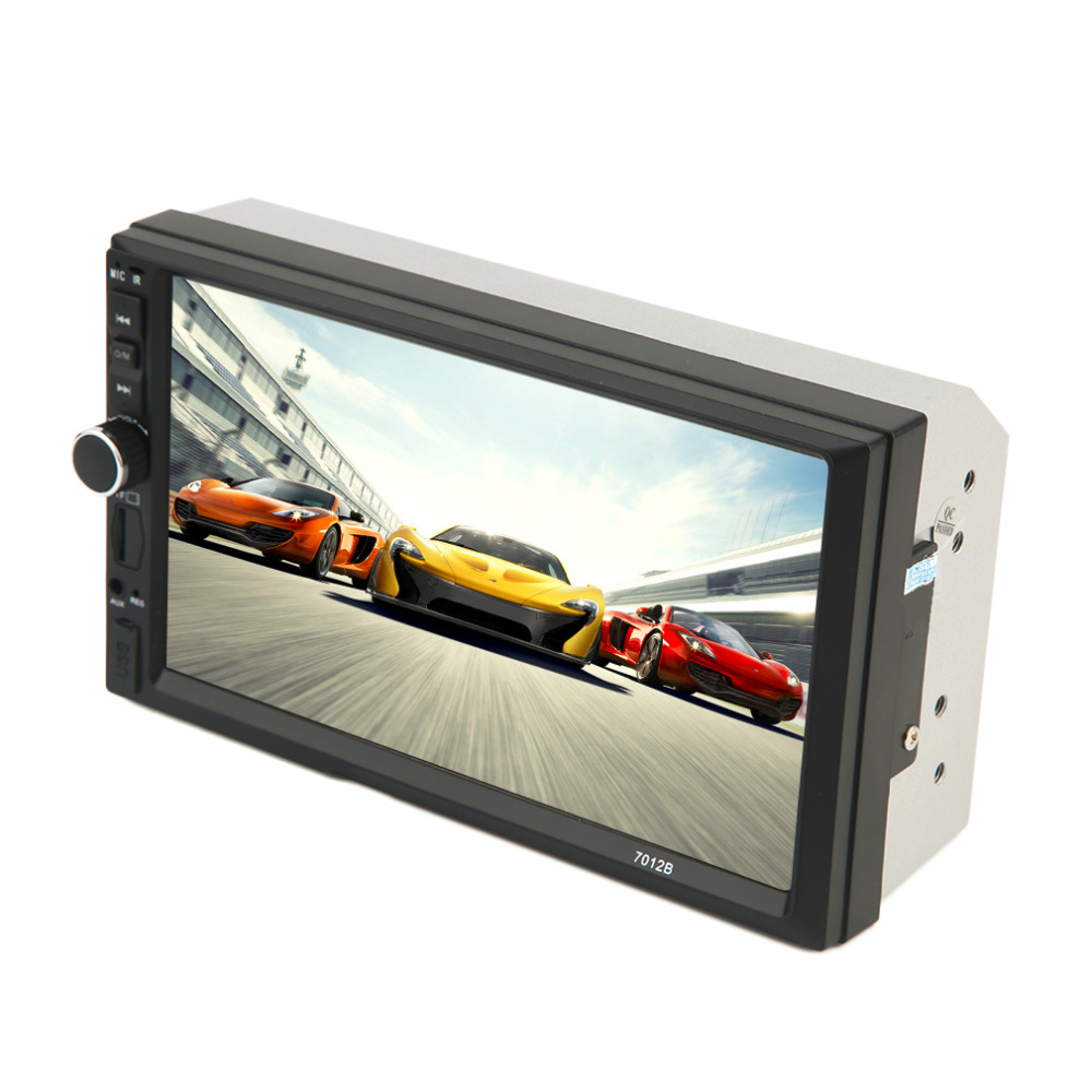 2017 New Black 7 Inch Large HD Touch Screen Bluetooth Car Vehicle DVD FM/MP5 Radio Player Universal Auto Rear View Camera Input 4 3 hd touch screen mp5 player w fm white black 8gb