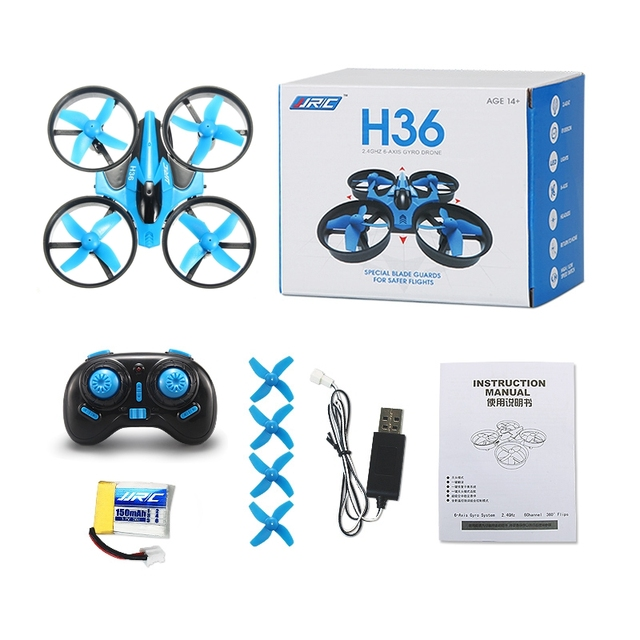 JJR/C JJRC H36 Mini Quadcopter 2.4G 4CH 6-Axis Speed 3D Flip Headless Mode RC Drone Toy Gift Present RTF VS Eachine E010 H8 Mini 4