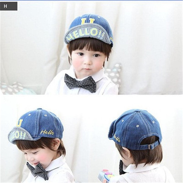 Children hat H jeans baseball cap over baby boys and girls hat brim peaked cap  Baby d6c320fa5be