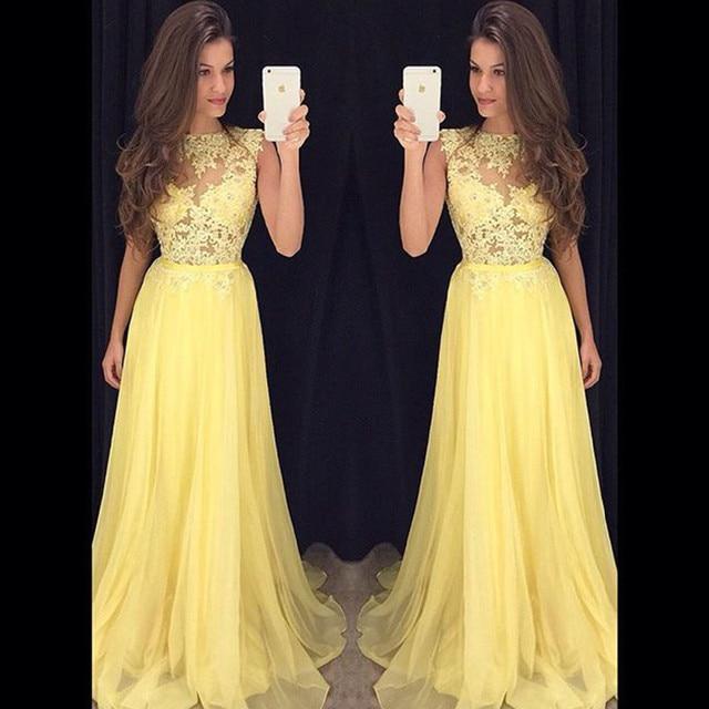 Vestidos de fiesta amarillo pastel