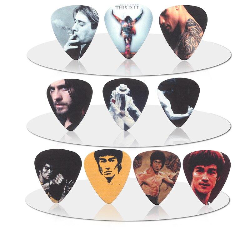 SOACH 10pcs 0.71mm Starhigh Quality Two Side Earrings Pick DIY Design Guitar  Accessories Pick Guitar Picks