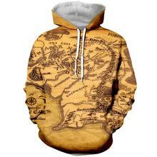 PLstar Cosmos Drop Shipping Funny lord of the rings map 3d Printed Hoodie For Women Men Map Hoodies/Sweatshirt Dropshipping