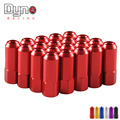 M14X1.5  Extended 60MM Aluminum Tuner Lug Nuts Wheels Rims/ Rims/ wheeling nuts 20pcs=1set