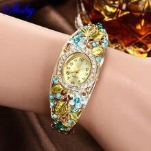 Shsby Colorful Jewelry Bracelet Watches oval Quartz