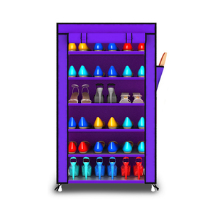 Image 5 - Thick Non woven Cloth Multi layers Shoe Rack Dustproof Waterproof Creative Shoes Cabinet  Shoes Storage Rack DIY Shoes Organizer