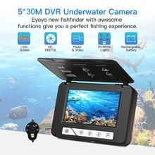 EYOYO Fish Finder Underwater Fishing Camera HD 5 Inch 1000TVL Video Underwater camera subaquatica dvr ICE Fishing Cam fishfinder