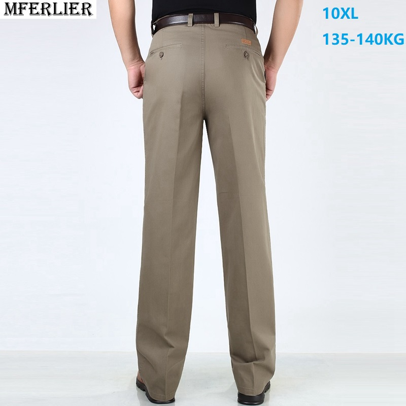 Men Suit Pants Formal Large Size Big Classic 7XL 8XL 9XL 10XL Autumn Business Pants Office Straight Trousers Black High Waist 48