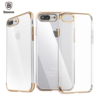 For Iphone 7 Case Clear Transparent Color Frame Luxury For IPhone7 Plus Hard Slim Cover Baseus