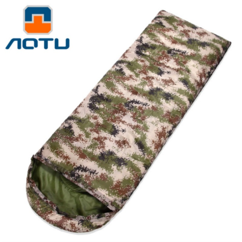 Single Cotton Outdoor Sleeping Bag Digital Camouflage Camping Cotton Spring Autumn Sleeping Bag Travel 15~5degree Keep Warm
