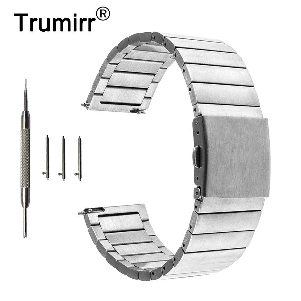 Quick Release Stainless Steel Watchband 22mm for Samsung Gear S3 Classic Frontier Garmin Fenix Chronos Watch Band Wrist Strap garmin fenix chronos с металлическим браслетом