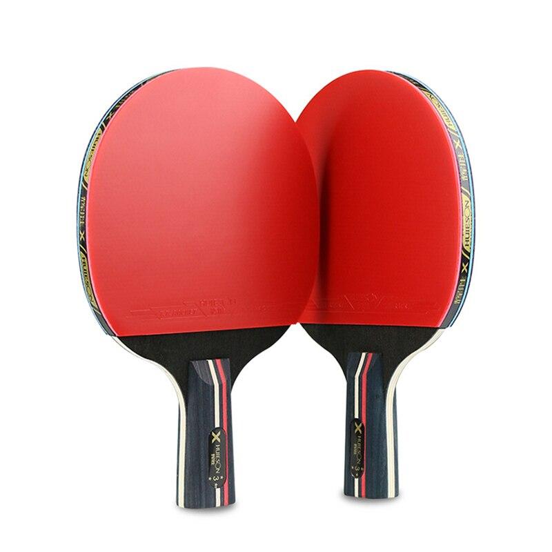 High Quality Table Tennis Bat Racket PingPong Paddle Long Short Handle Durable Bag 3 Balls NCM99