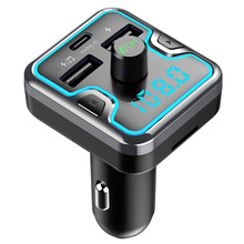 CDEN Bluetooth 5.0 Receiver Car MP3 Music Player Lossless fm Transmitter TYPE-C Fast USB Charger Breathing Light