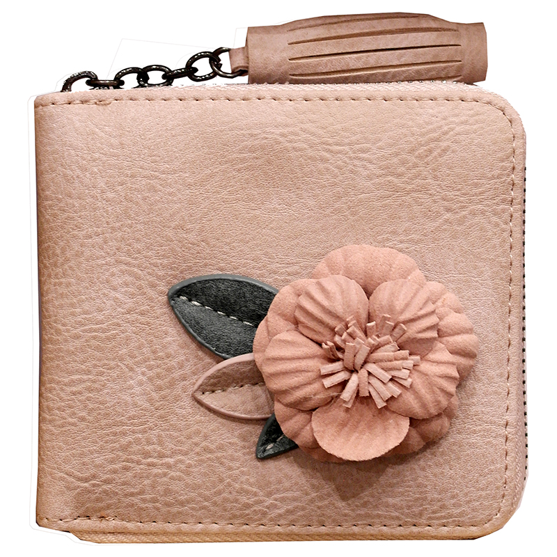 PINK Luxury brand Genuine Leather Women Wallet Female Lady Small Walet Portomonee For Girls Mini Pocket Perse Holder Coin Purse kavis luxury brand genuine leather women wallet female lady small walet portomonee for girls mini pocket perse holder coin purse