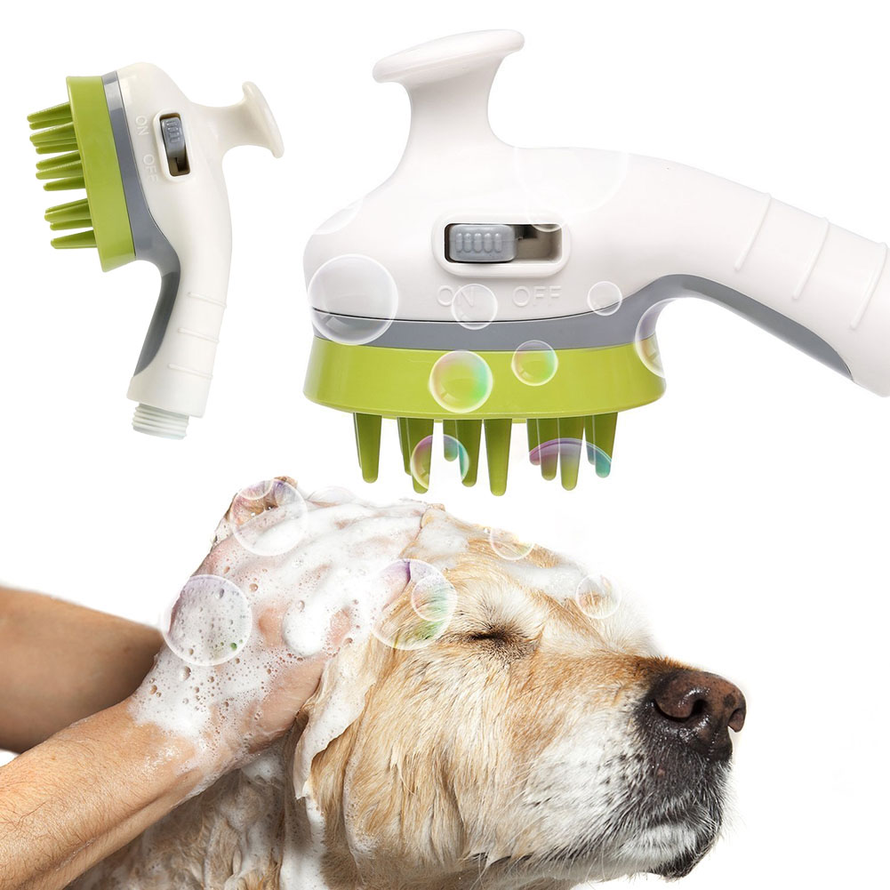 Multifunction Pet Dog Cat Bathing Shower Nozzle Spray Massage Head Grooming Tool Pets Supplies TB Sale