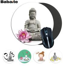 Maiyaca Baru Buddha Meditasi Yoga Karet PC Komputer Gaming Mousepad Anti-Slip Laptop PC Mouse Pad Mat game(China)
