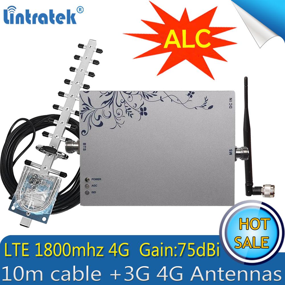 Lintratek LTE DCS 1800MHz 4G ALC Celullar Signal Repeater Gsm 1800 Umts Lte 1800 Cellphone Signal Booster With 4G Antenna