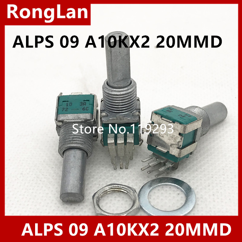BELLA JAPAN ORIGINAL ALPS 09 Precision Potentiometer double A10KX2 A10K 20MMF 10PCS LOT