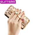 Elftear criativo rhinestone bracelet mulheres phone case para iphone 5s 6 6 s mais novo luxo chapeamento grade tampa do telefone de volta