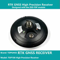 Designed with the ZED-F9P F9 module, the RTK high-precision GNSS receiver can be used as a base station and rove TOPGNSS TOP100